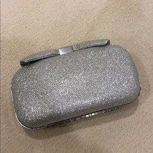 Brand New Aldo Silver Clutch with Chain